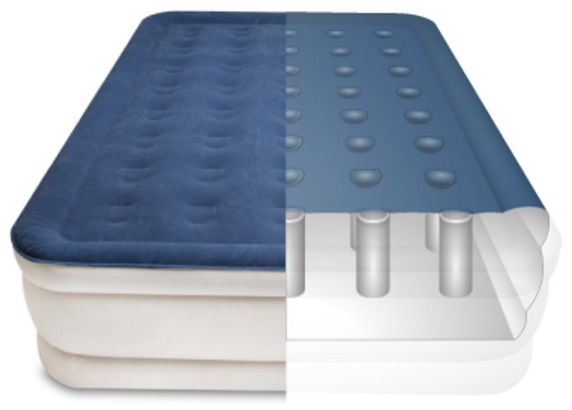 Serta Raised Air Mattress with neverFLAT Pump